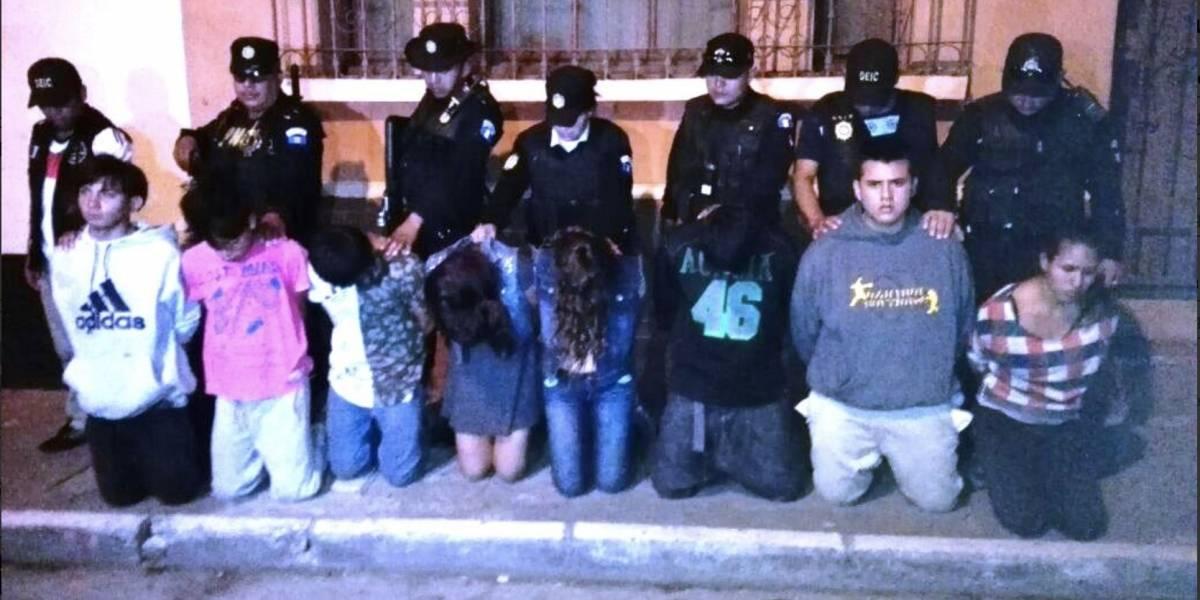 PNC evita matanza y tras persecución captura a 8 presuntos pandilleros