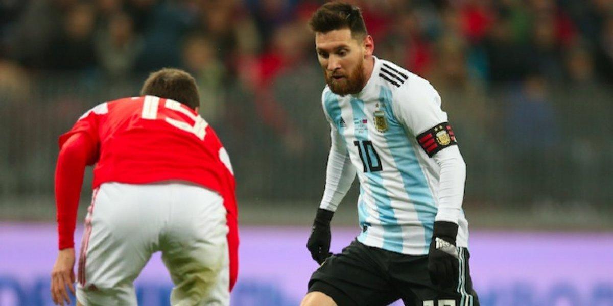 Con gol de Agüero, Argentina se impone ante Rusia en partido amistoso