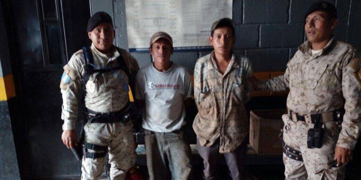 """Capturan a dos """"depredadores"""" de árboles en San Marcos"""