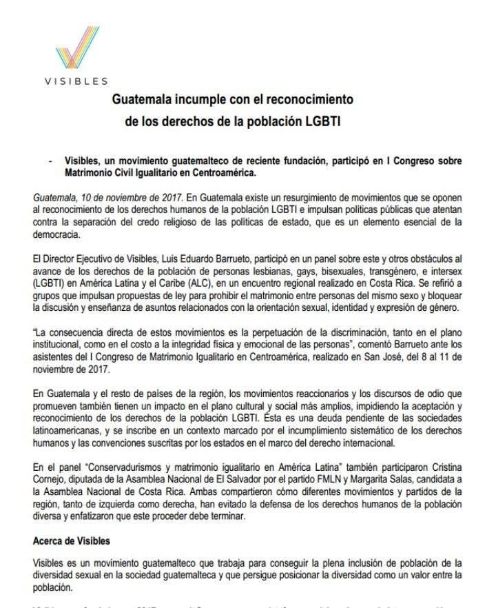 Guatemala incumple con la comunidad LGBTI