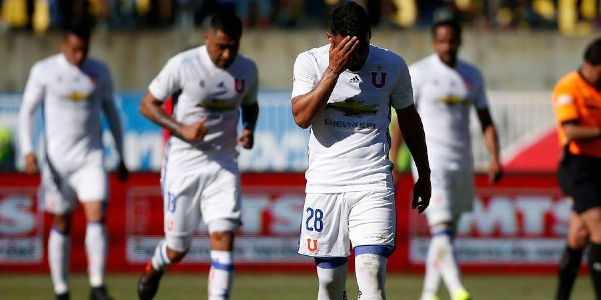 Uno a uno de la U: equipo perdido, descontrolado y que sufrió sin Pinilla