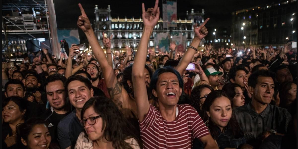 Caifanes hace vibrar a más de 120 mil personas en el Zócalo capitalino
