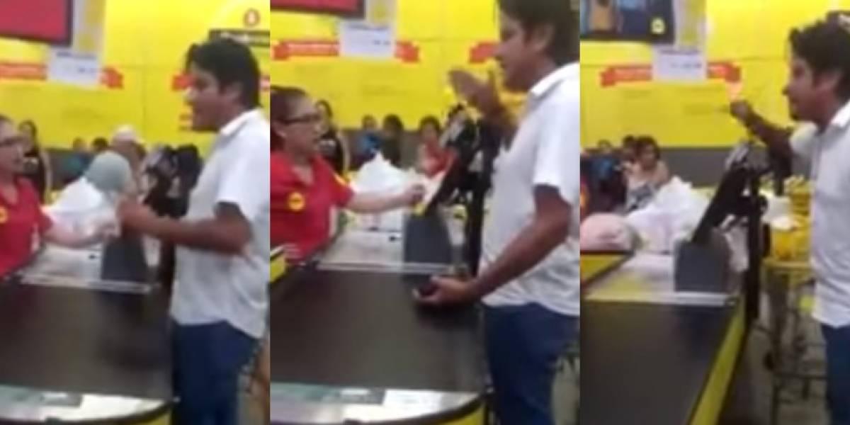 """Video: hombre se niega a pagar IVA en el Éxito porque con ese dinero """"van a comprarle aviones a Timochenko"""""""