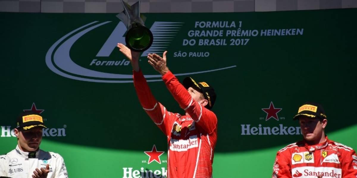 Fórmula Uno: Vettel se adjudicó el GP de Brasil pese a remontada de Hamilton