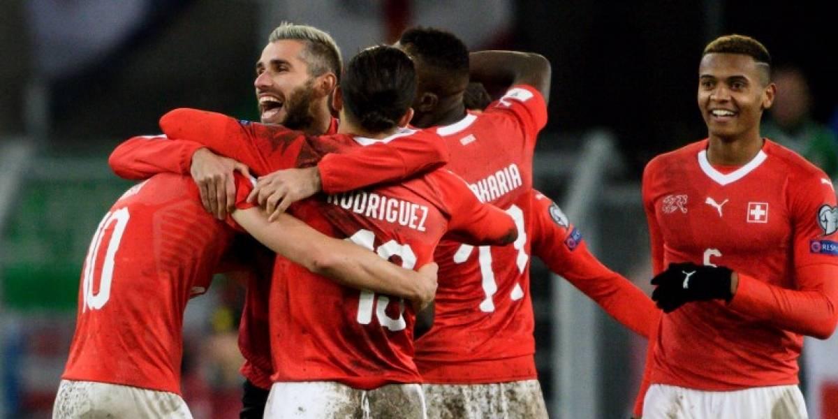 Suiza se clasificó al Mundial de Rusia tras pobre empate ante Irlanda del Norte