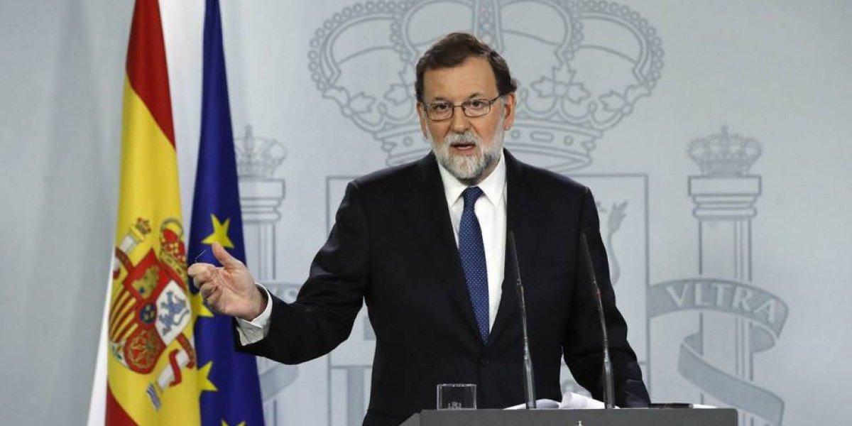 Presidente Rajoy visita Cataluña y defiende destituciones