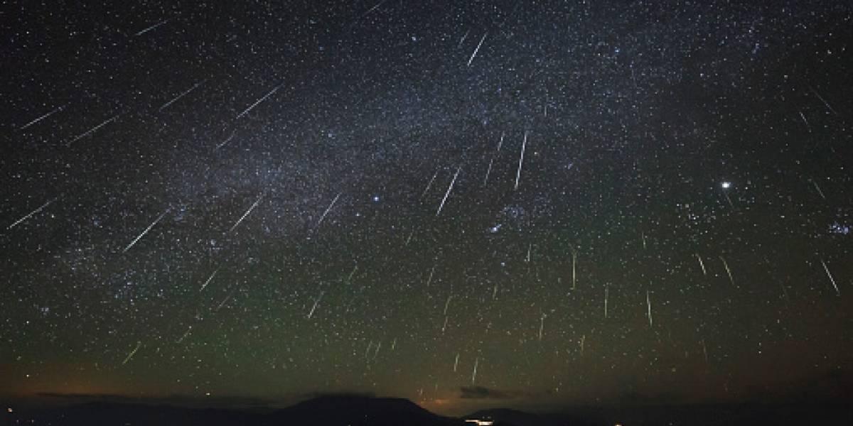 Lluvia de meteoros se ve hoy en su máxima intensidad