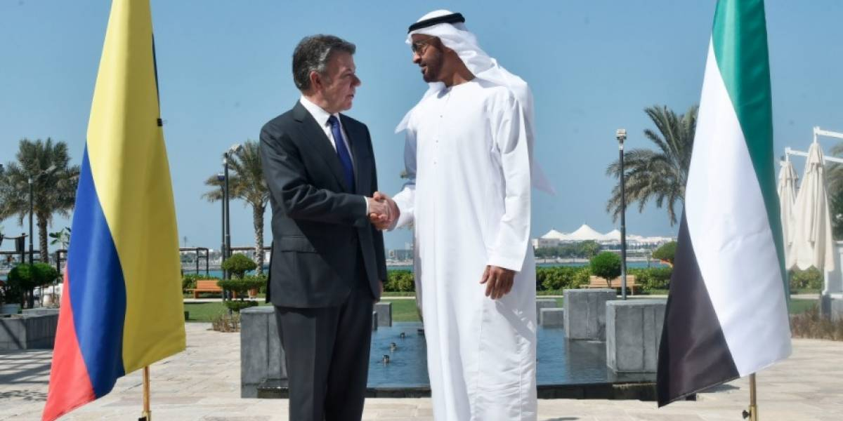Buenas noticias trae Juan Manuel Santos de Emiratos Árabes Unidos
