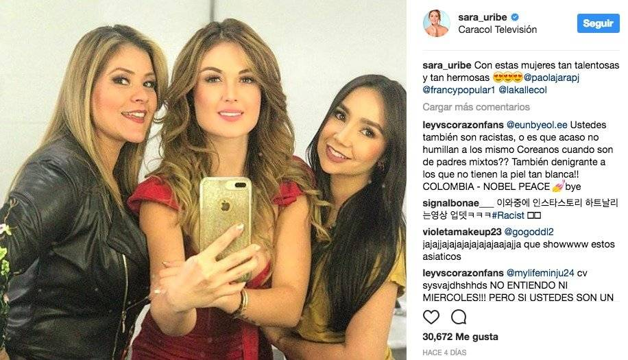 Captura de pantalla Instagram Sara Uribe