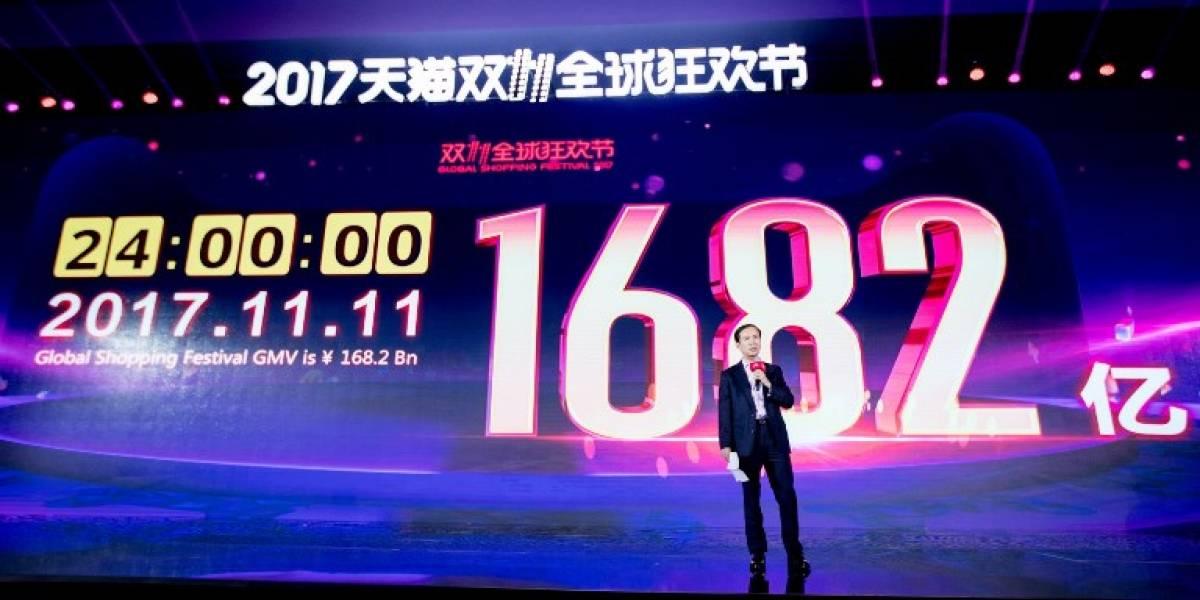 CyberMonday chino rompe récord: vende más de US$25 mil millones en 24 horas