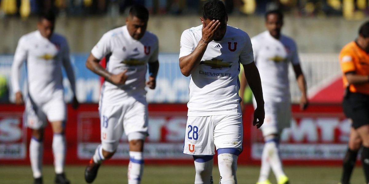 La U sigue sufriendo tras el fracaso en Copa Chile y deberá volver al Torneo sin sus delanteros estelares