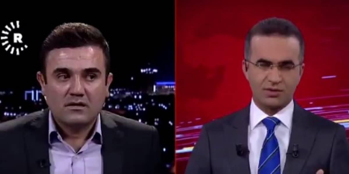 Presentador de televisión es captado en vivo durante terremoto en Irak