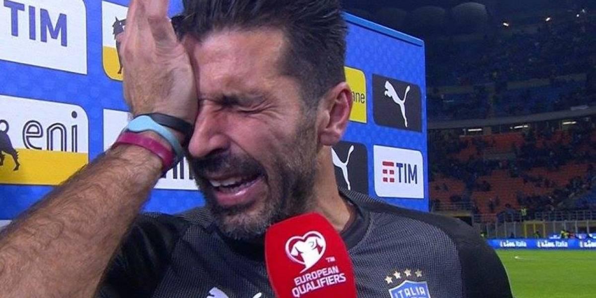 Gianluigi Buffon llora tras eliminación de Italia