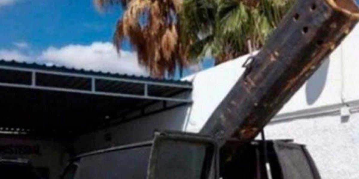Confiscan en Sonora cañón casero diseñado para lanzar droga a EU