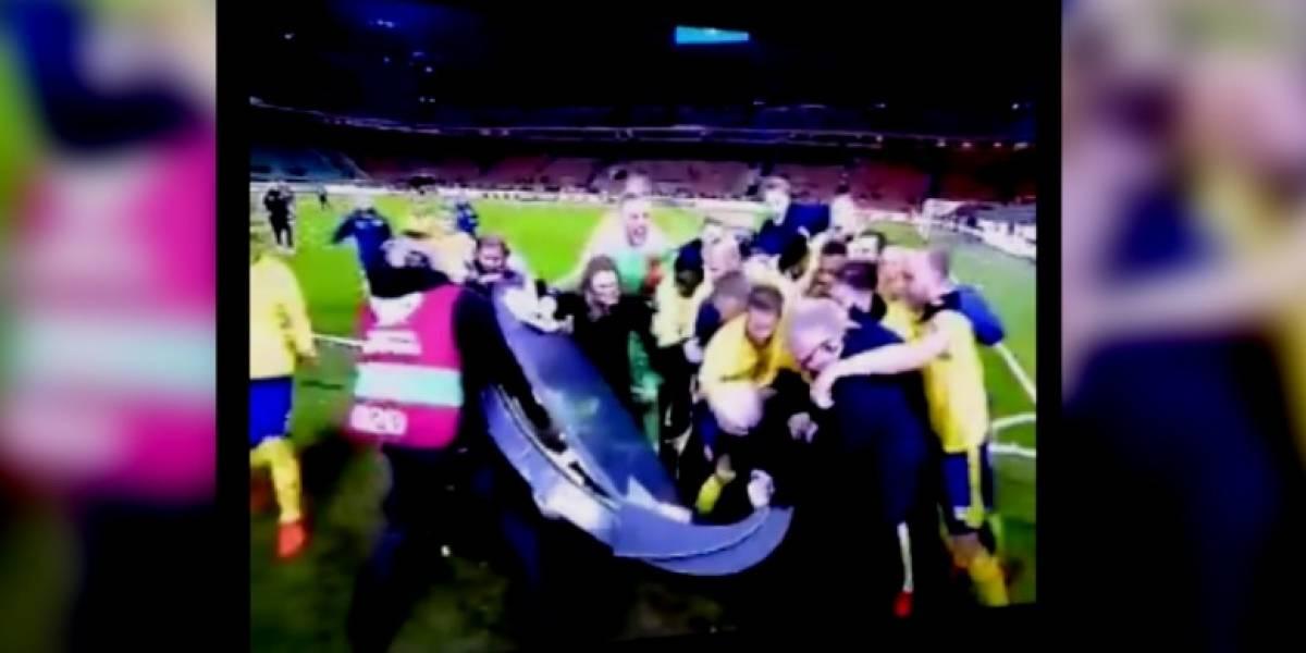VIDEO: La épica celebración de Suecia tras calificar al Mundial