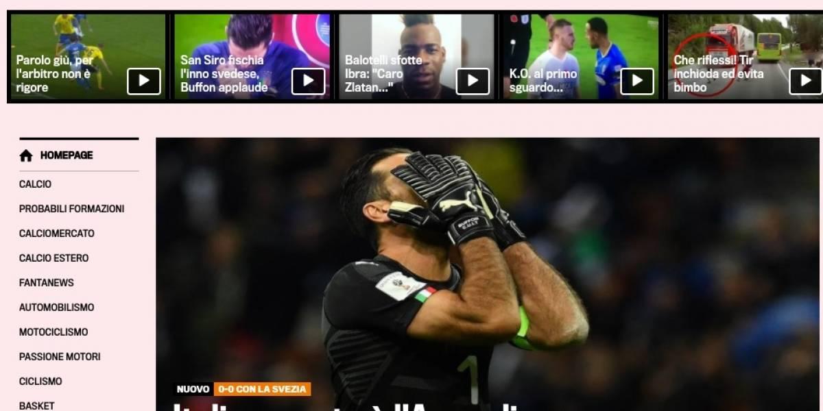 Imprensa internacional repercute queda da Itália nas Eliminatórias da Copa