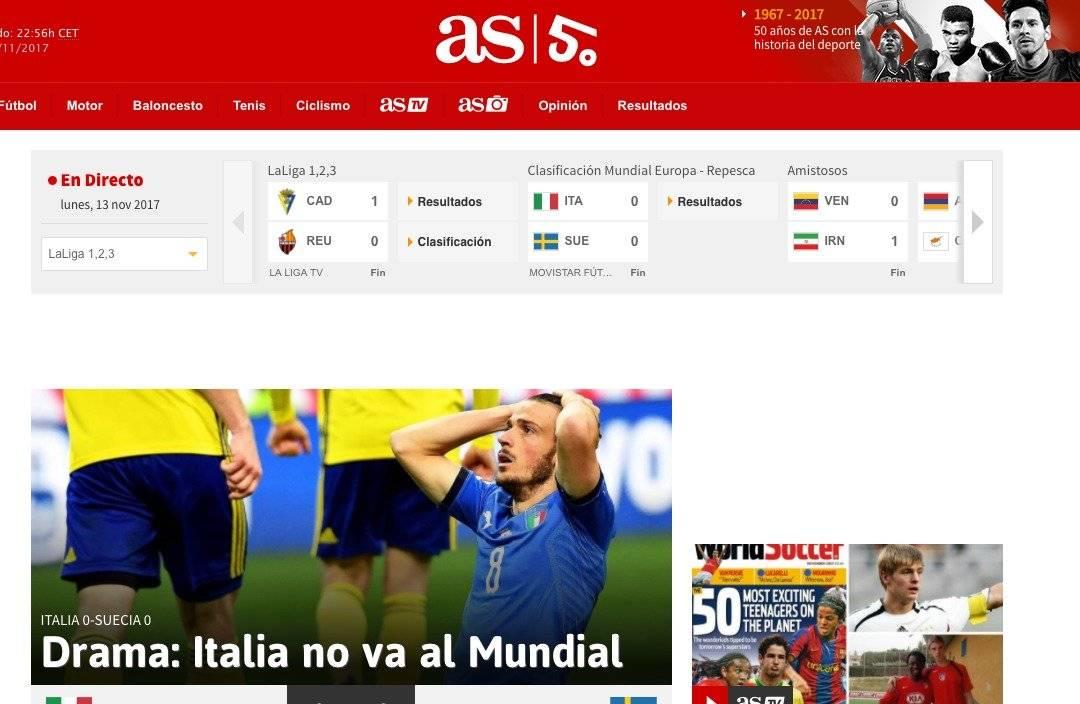 AS (Espanha): Itália não vai ao Mundial Reprodução
