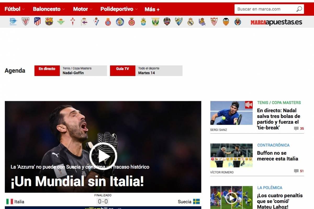 Marca (Espanha): Mundial sem Itália Reprodução