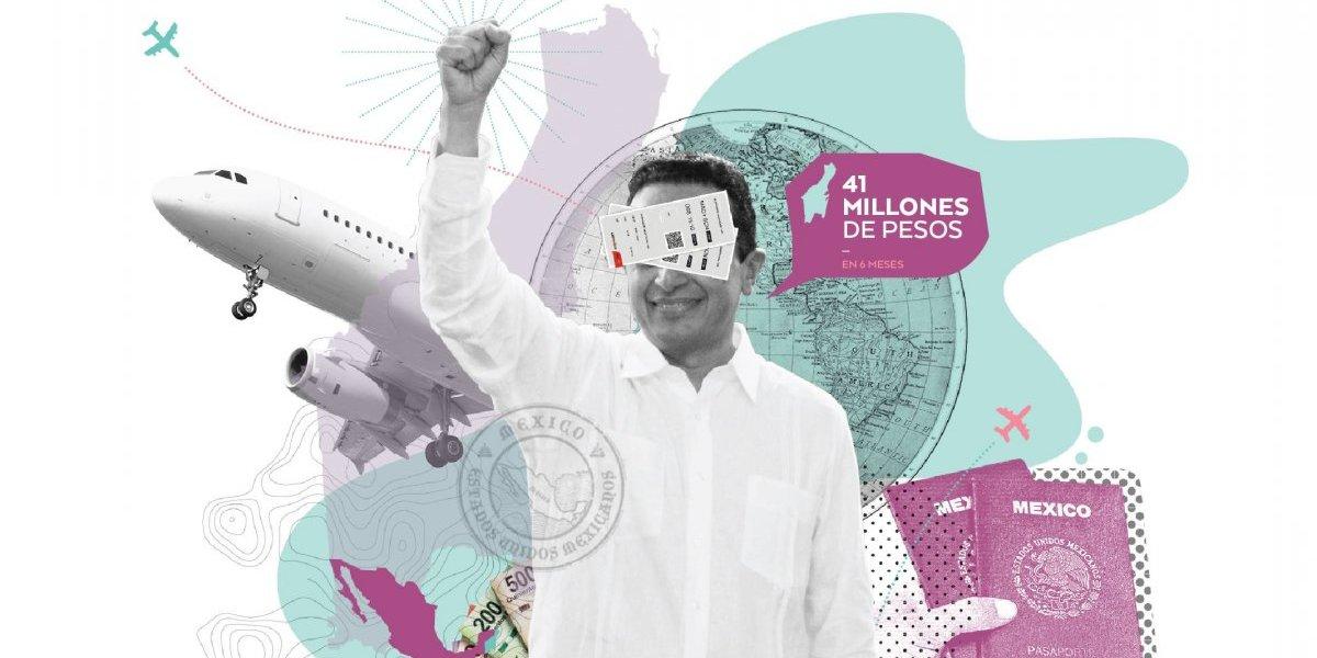 Gobernador de Quintana Roo gasta en sólo seis meses 41 mdp en viajes
