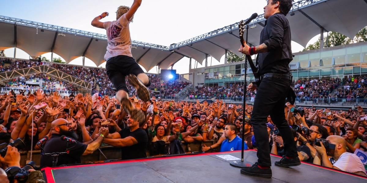 """Green Day derrochó """"amor, pasión y locura"""" en su reencuentro con Chile"""