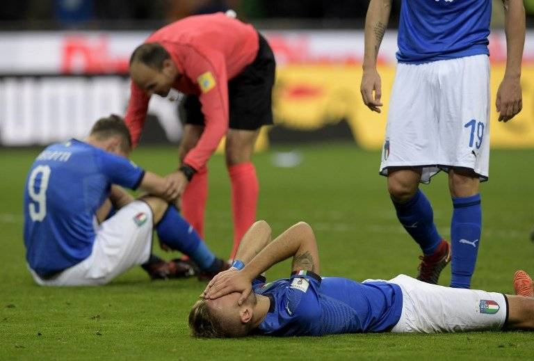 Italia eliminada del Mundial de Rusia 2018