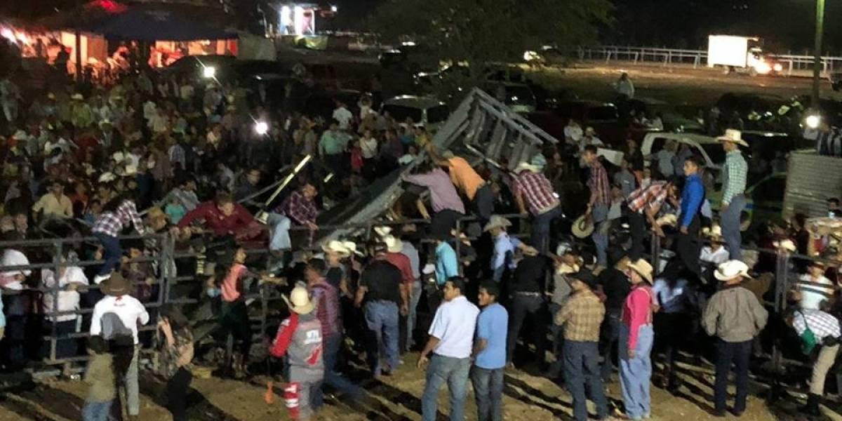 Colapsa graderío durante jaripeo en Jutiapa y 37 personas resultan heridas