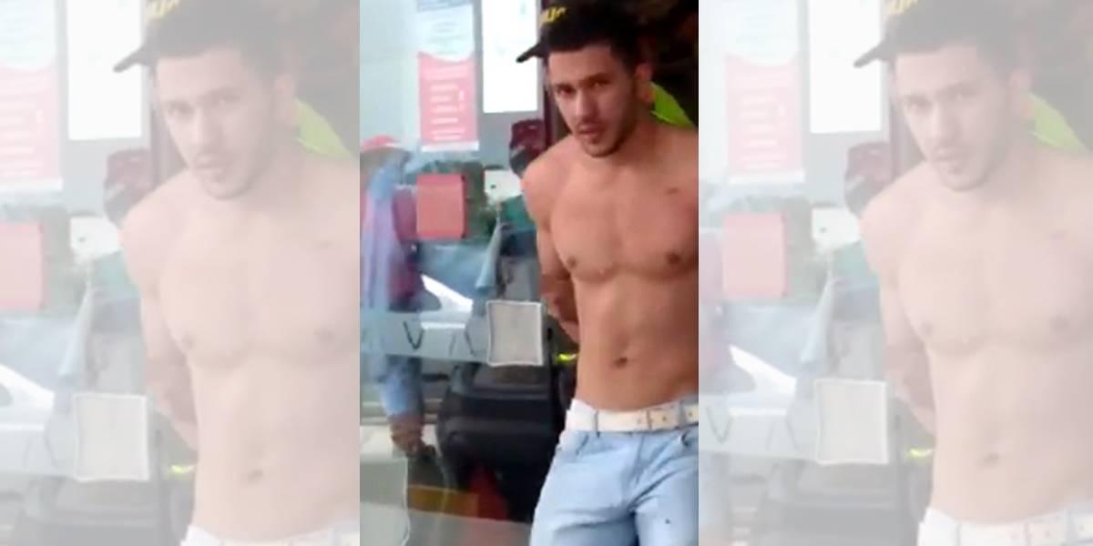 Ladrão 'sexy' ganha internet ao ser preso sem camisa após assalto a banco