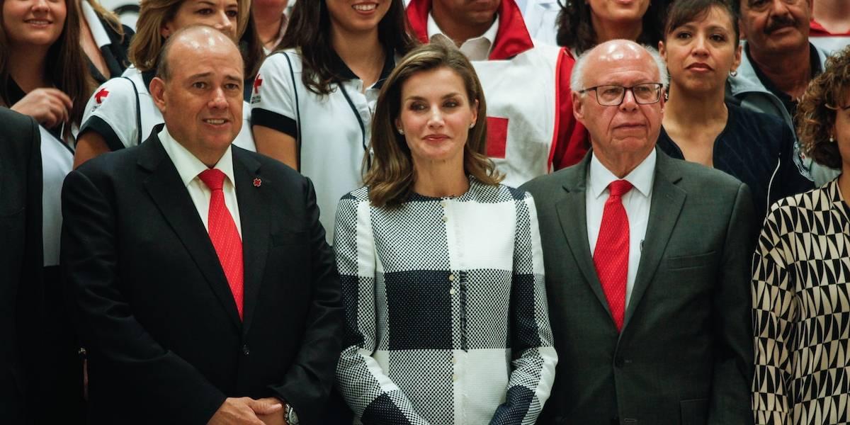 La Reina Letizia de España visita la Cruz Roja de Polanco