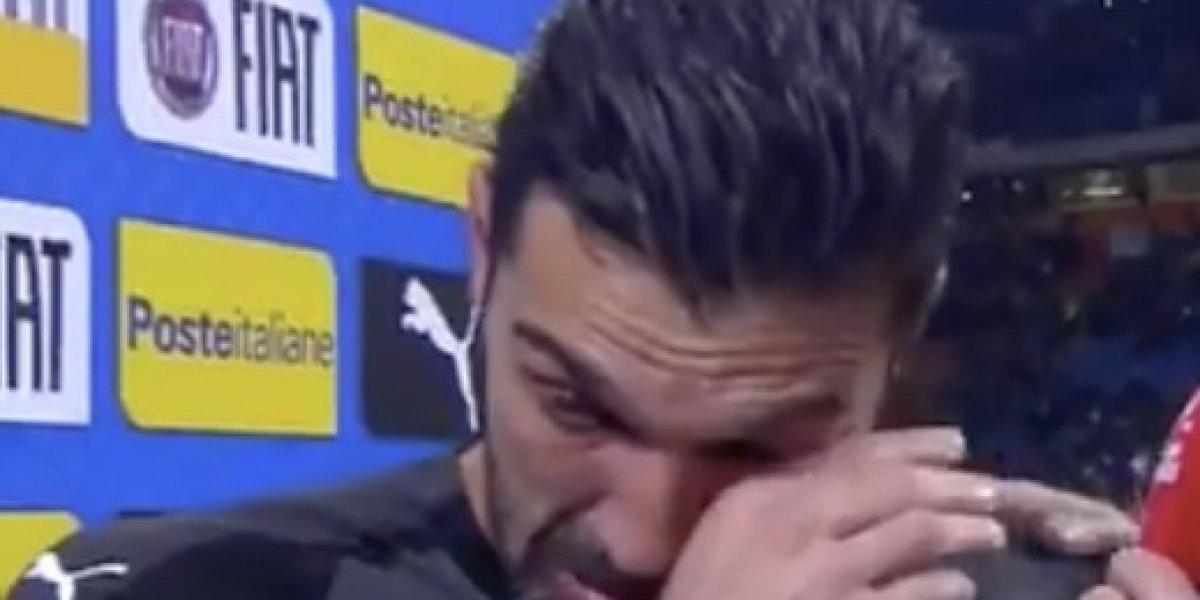 Buffon rompe en llanto tras eliminación de Italia hacia el Mundial de Rusia 2018
