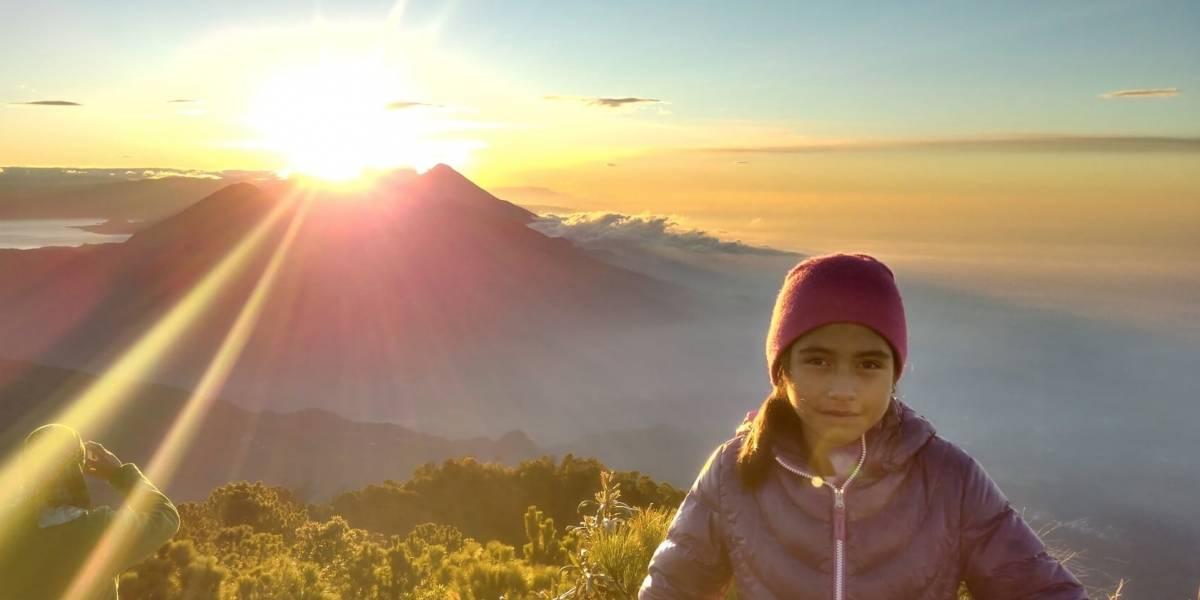 La historia de la niña de 9 años que ya superó su reto de escalar las cumbres oficiales de Guatemala