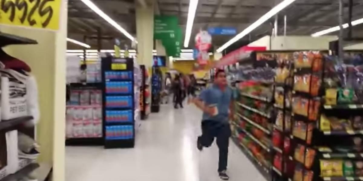 VIDEO. Clientes de un supermercado se llevan fuerte susto tras temblor en Costa Rica