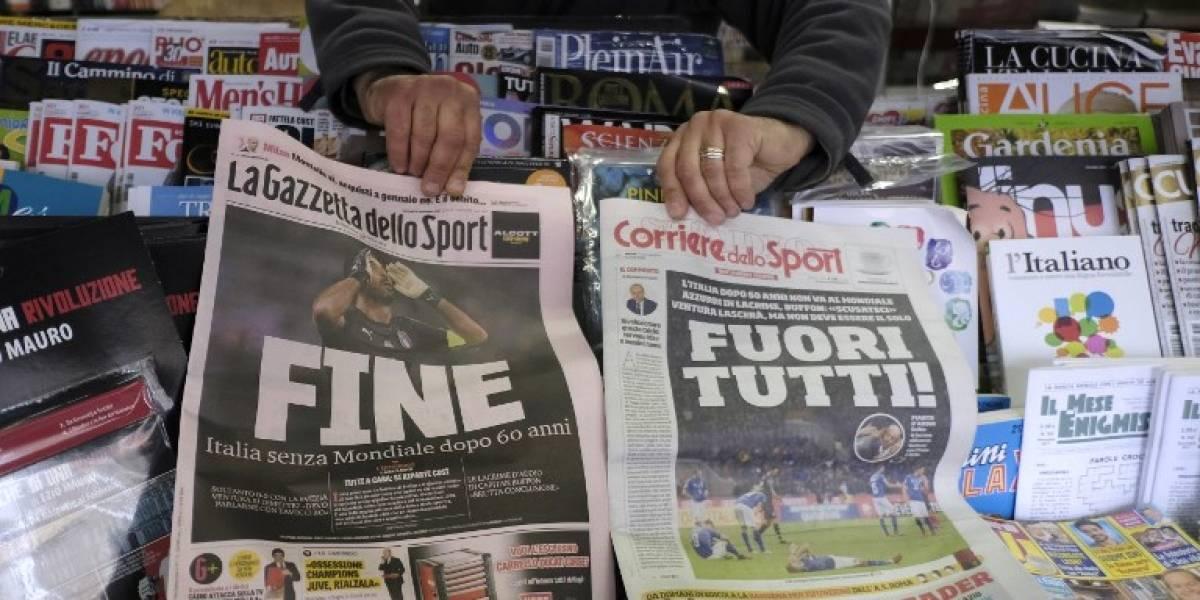 """""""¡Qué se vayan todos!"""": las categóricas portadas italianas tras la desastrosa eliminación mundial"""