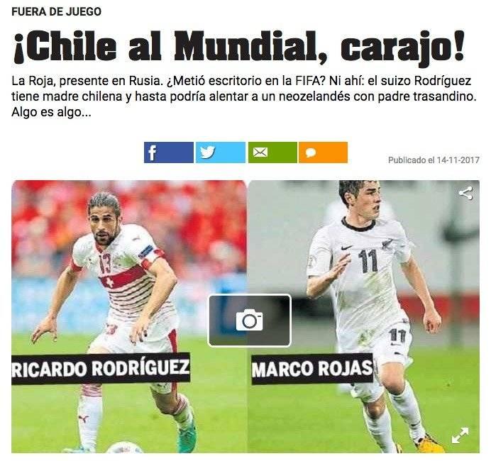 [FOTO] Importante diario argentino sigue riéndose de Chile con irónica nota sobre el Mundial