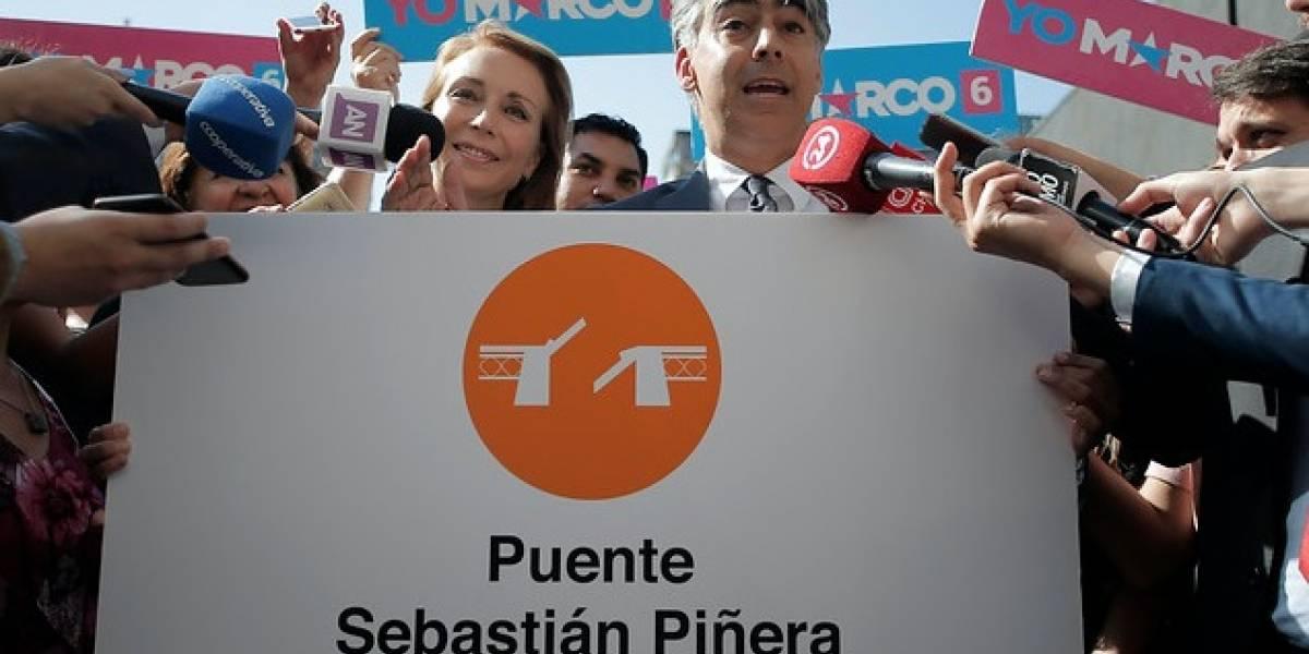 """No sólo una estación de Metro """"Michelle Bachelet"""": proponen que puente Cau Cau se llame """"Sebastián Piñera"""""""