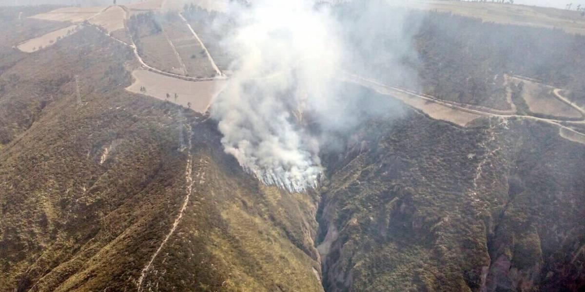 Conato de incendio forestal se produjo en el sector San Juan de Calderón