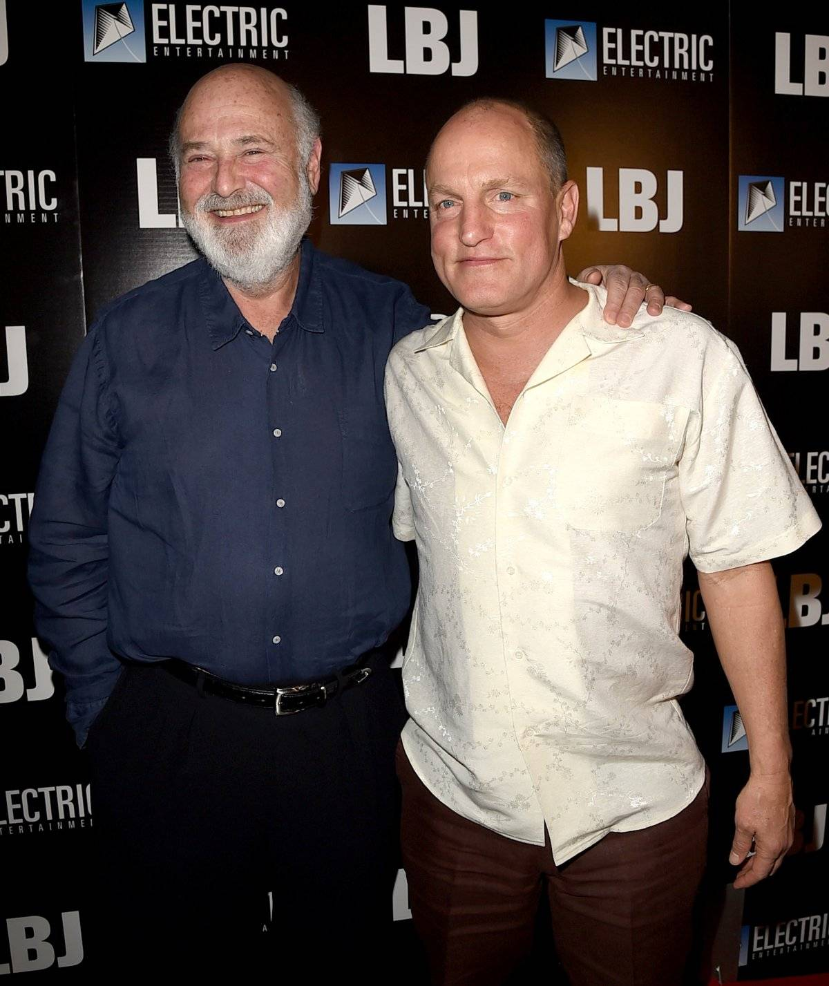 Rob Reiner y Woody Harrelson.