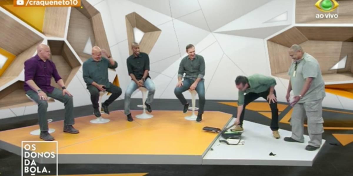Neto quebra fax ao vivo em discussão sobre ênea do Palmeiras