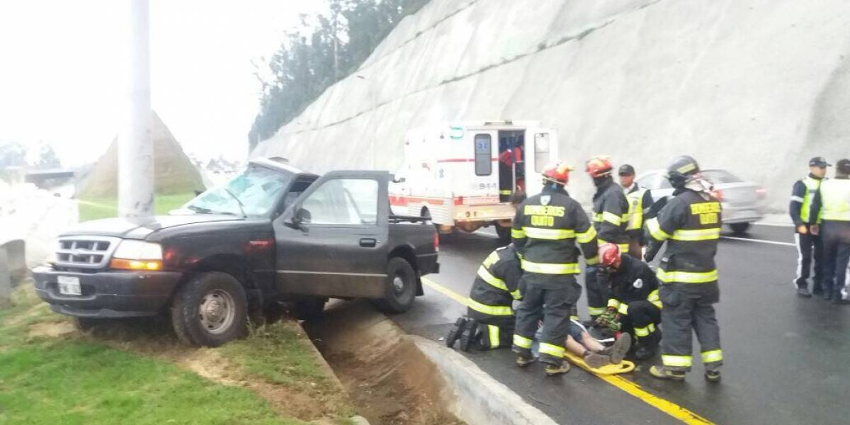 Dos heridos en accidente de tránsito en la Ruta Viva