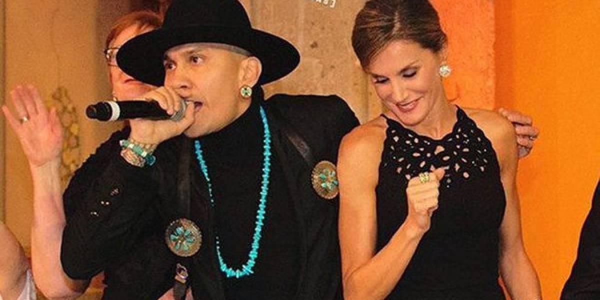 Así fue el divertido baile de la Reina Letizia con el vocalista de The Black Eyed Peas