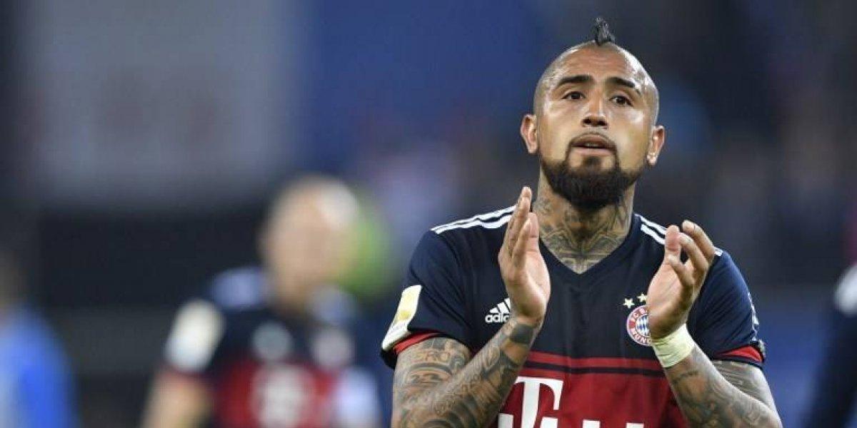La inclusión de Arturo Vidal en el equipo de la década del Bayern generó resistencia entre hinchas
