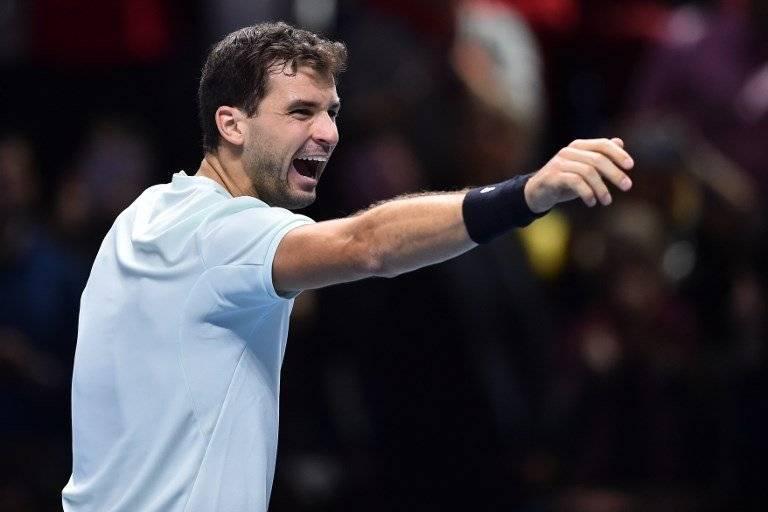 Dimitrov celebró el paso a semifinales / imagen: AFP