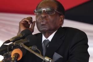 Robert Mugabe, de 93 años, presidente de Zimbabwe