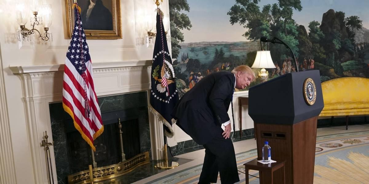 Se le seca la garganta a Trump
