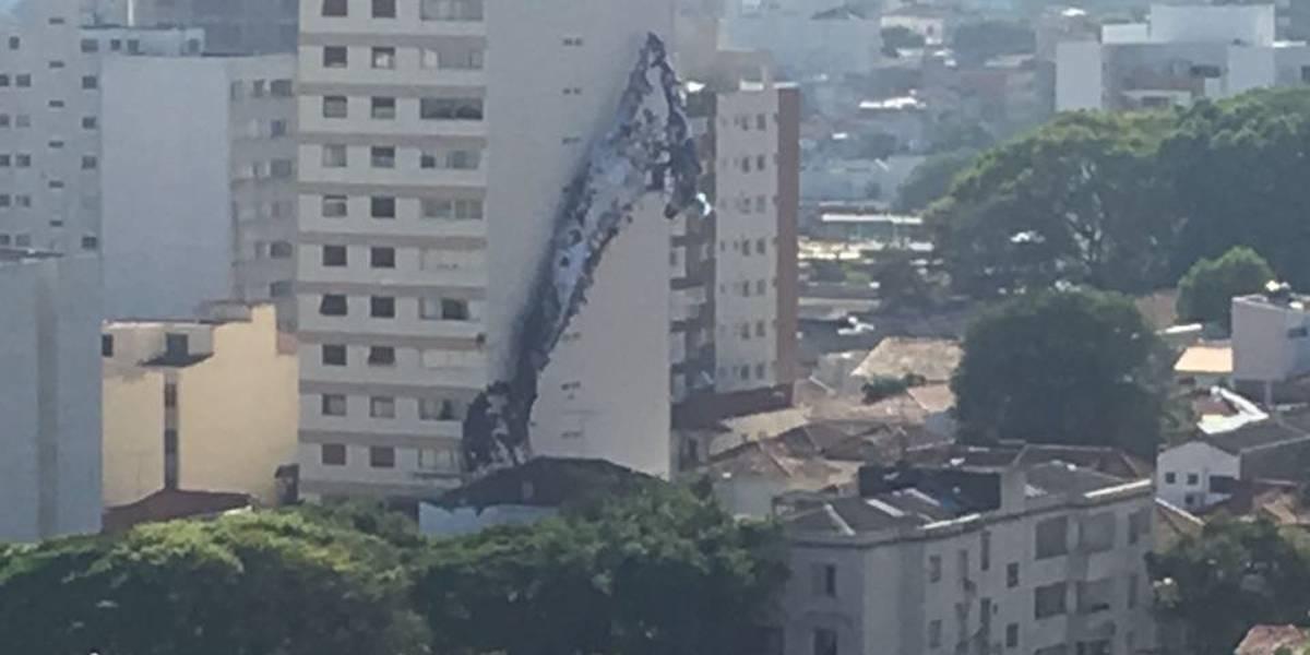 Balão cai em prédio na zona oeste de SP e causa princípio de incêndio