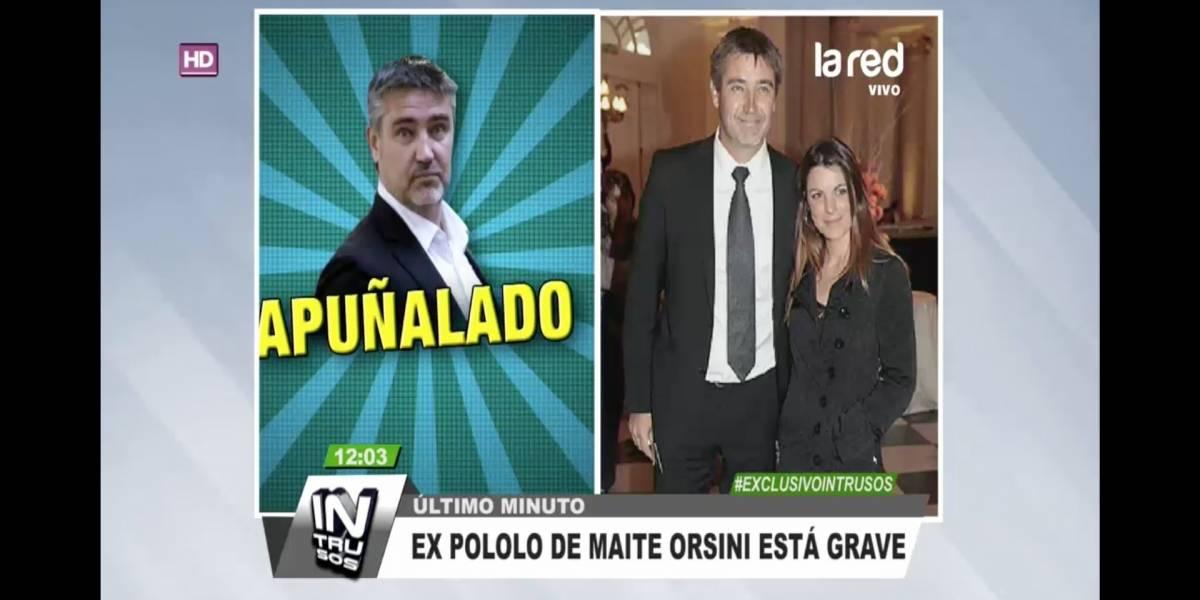 """Ex pololo de Maite Orsini está grave"": La particular forma de ""Intrusos"" al informar ataque a Fulvio Rossi"