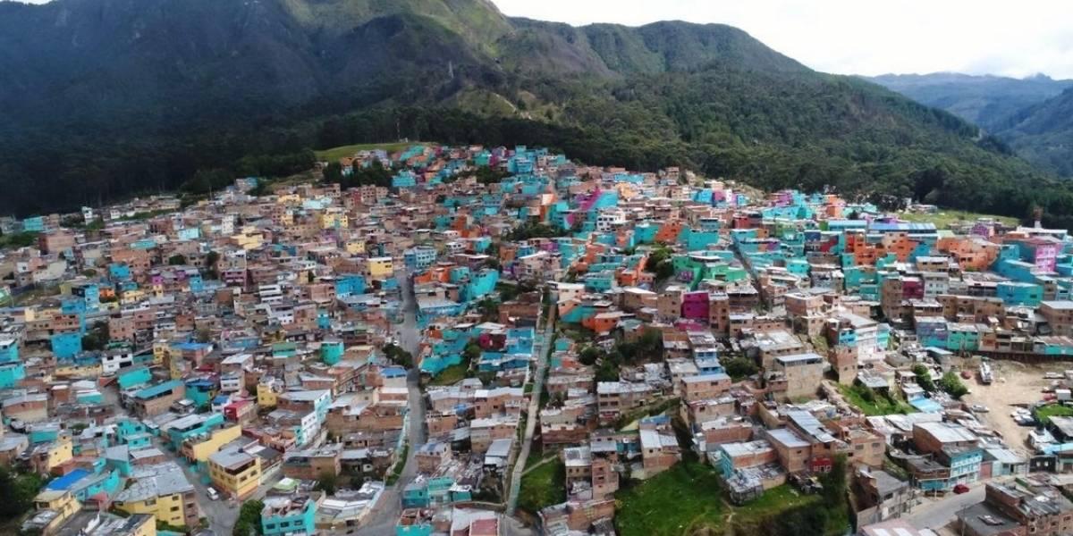 Este barrio de Bogotá pintó más de dos mil fachadas