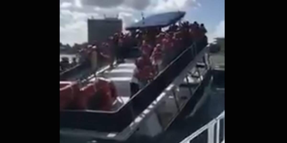 Video: ¡Pesadilla a bordo! se hunde barco de turistas en Cozumel