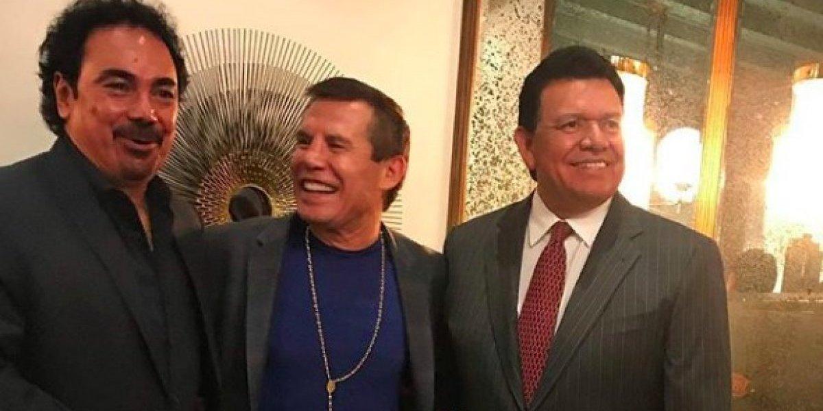 FOTO: Julio César Chávez, Hugo Sánchez y Toro Valenzuela se reúnen