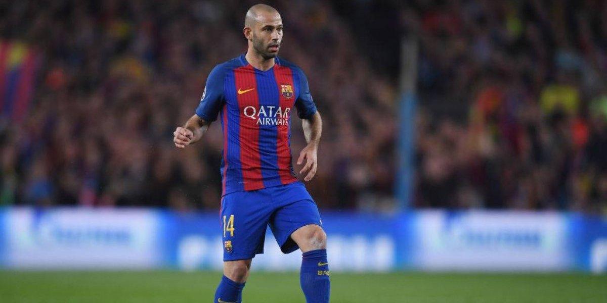 Barcelona se quedará un mes sin Javier Mascherano por lesión