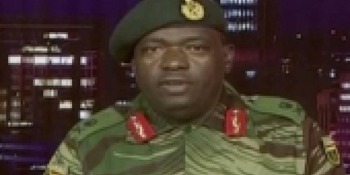 El momento en que el ejército de Zimbabue anuncia su toma de control